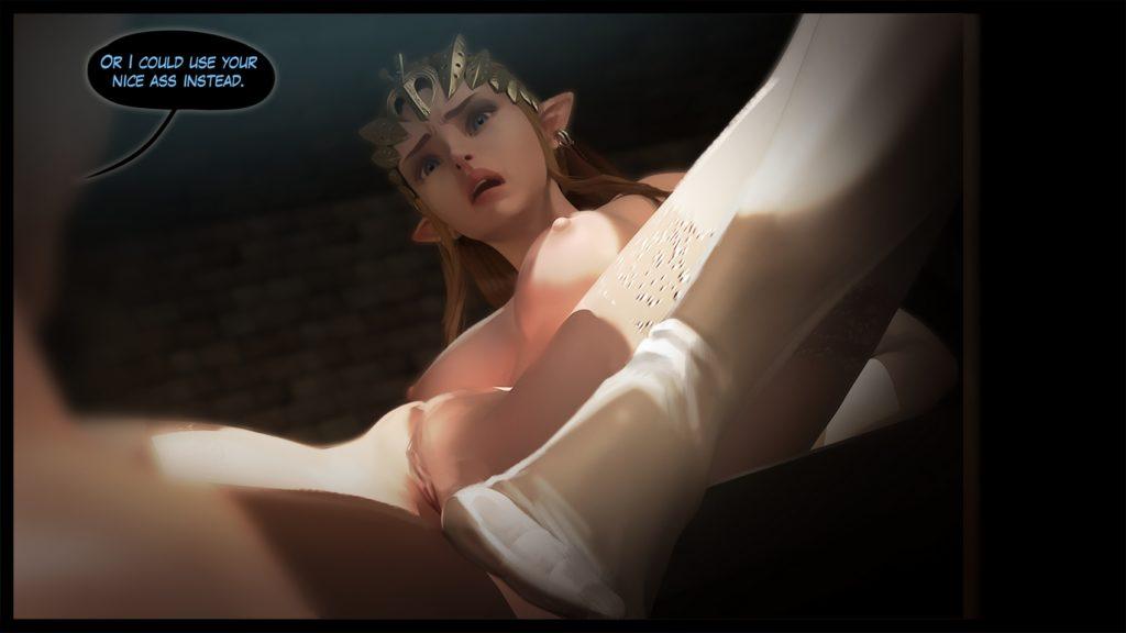 Princess Zelda riding monster cocks