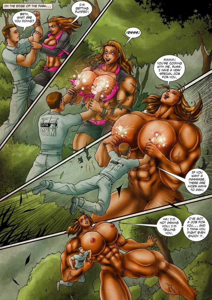 giant woman cartoon porn